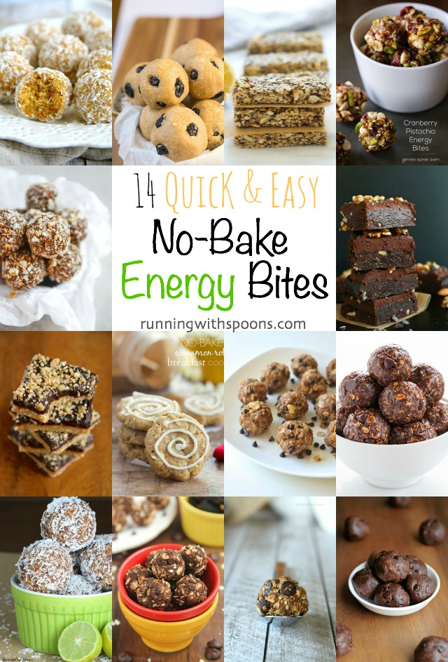 . 14 quick & easy no-bake energy bites .