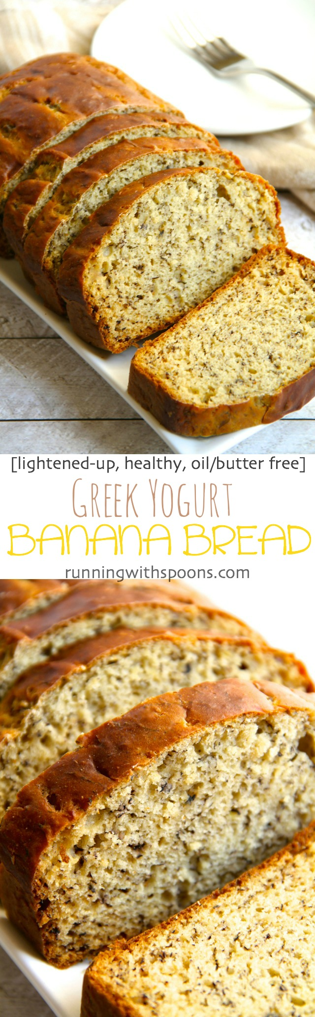 Greek Yogurt Banana Bread -- so soft and tender that you'd never be ...