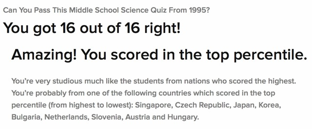 Middle School Quiz