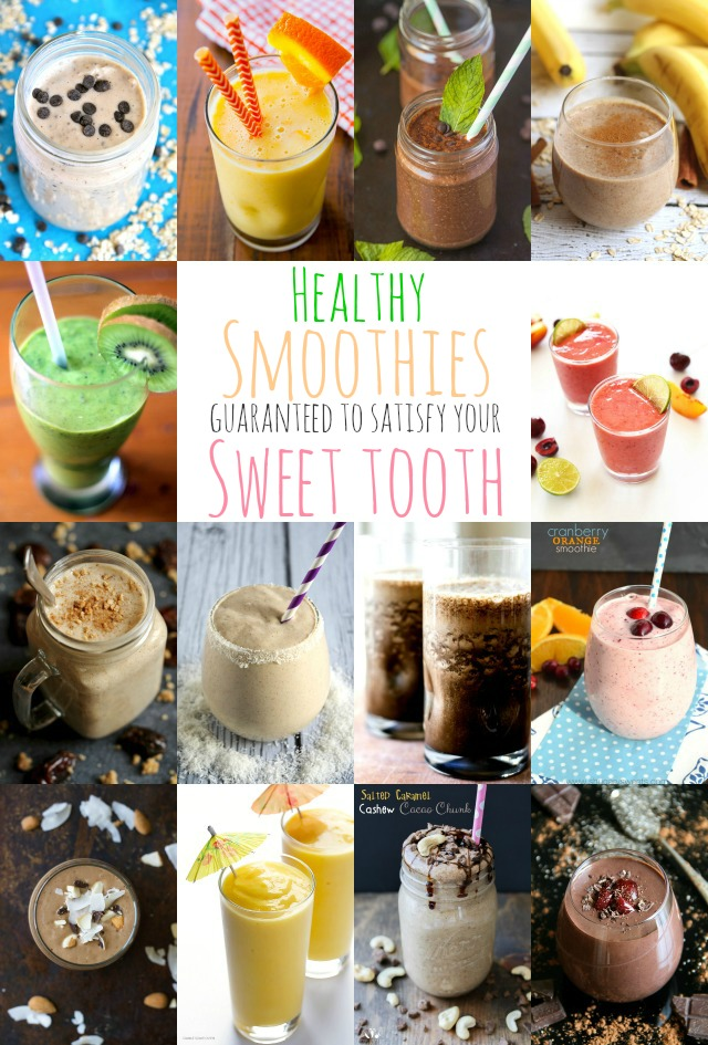 These healthy smoothies are guaranteed to satisfy your sweet tooth and keep you cool in the summer heat! || runningwithspoons.com