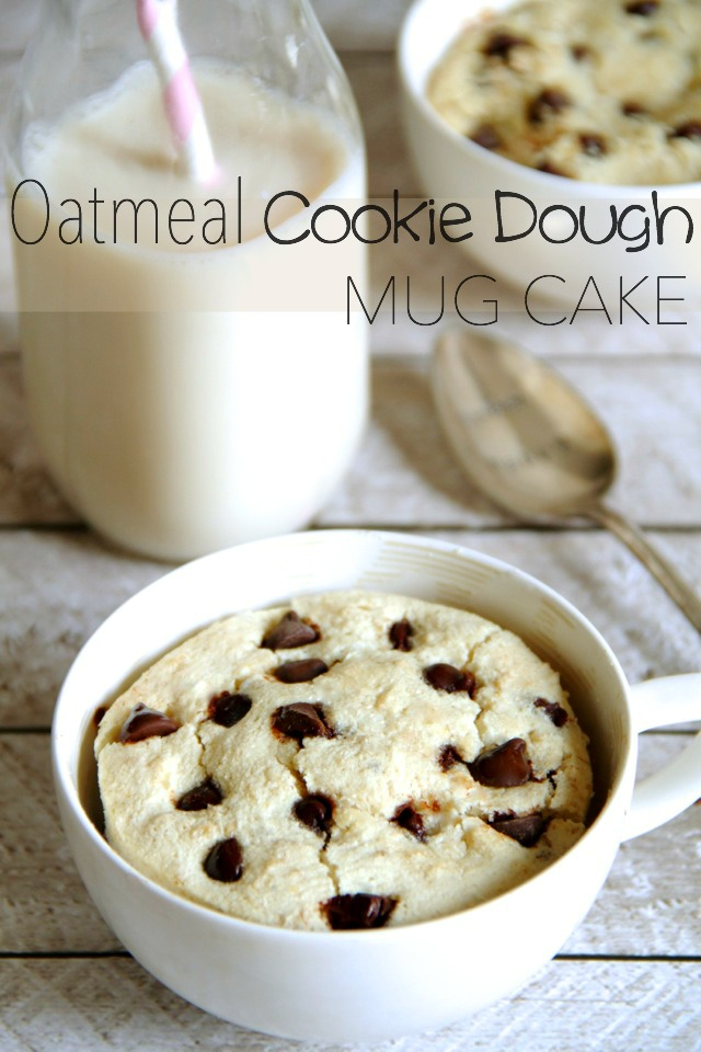 Oatmeal Cookie Dough Mug Cake Satisfy Your Cravings In Less Than 5 Minutes With