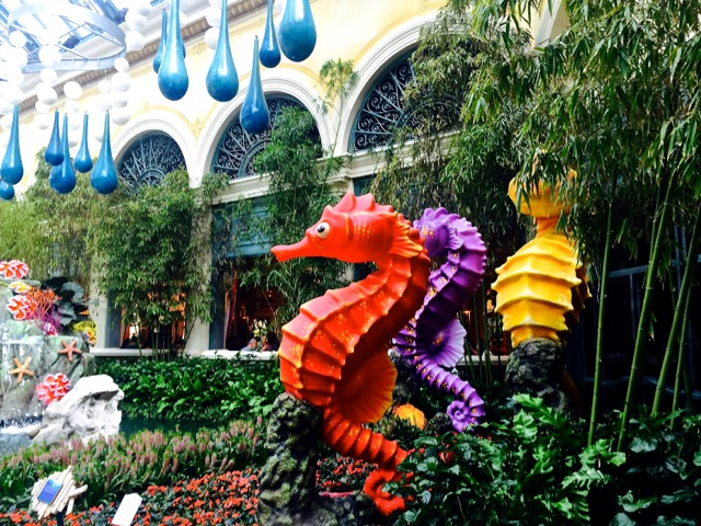 Bellagio Garden Seahorses