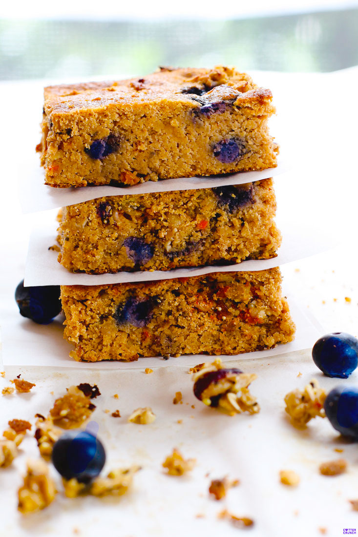Blueberry Carrot Cake Bars
