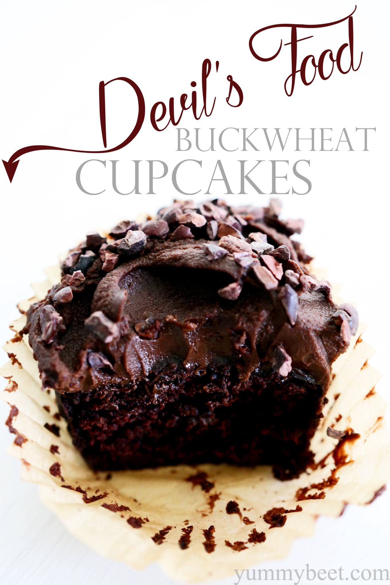 Devil's Food Buckwheat Cupcakes