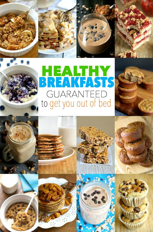 Not a morning person? Not a problem! These healthy breakfasts are guaranteed to get you out of bed! || runningwithspoons.com #breakfast #healthy #glutenfree
