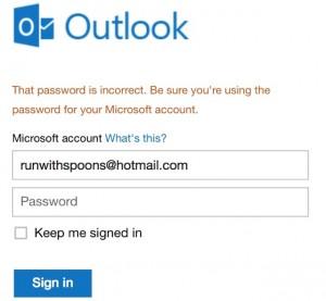 Password Fails