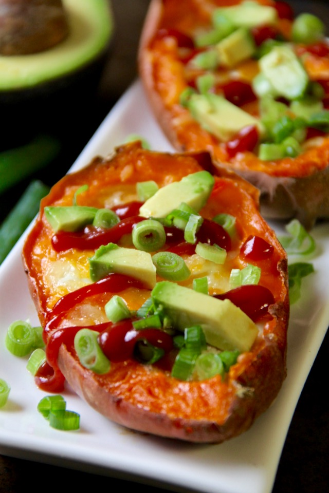 Baked Egg Stuffed Sweet Potatoes