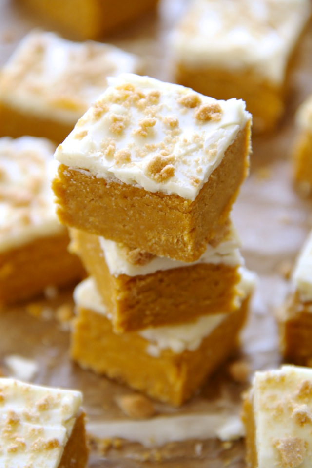soft and creamy no bake pumpkin cheesecake bites