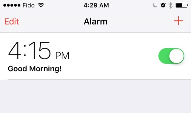 PM Alarm