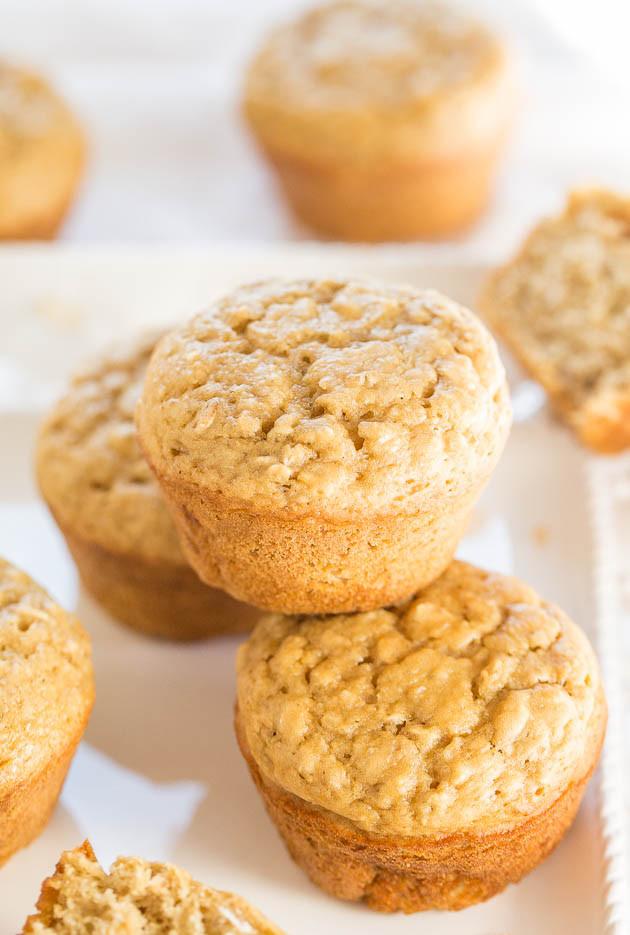 Skinny Oatmeal Sugar Muffins