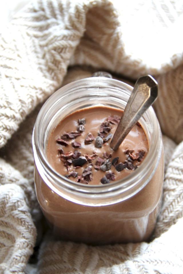 Hot Chocolate Smoothie - Frullato per colazione con cioccolata calda - ricette-vegane, vegan-per-bambini-