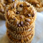 Pumpkin Oat Greek Yogurt Muffins