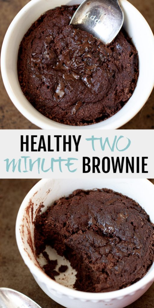 A healthy two minute brownie collage for Pinterest.