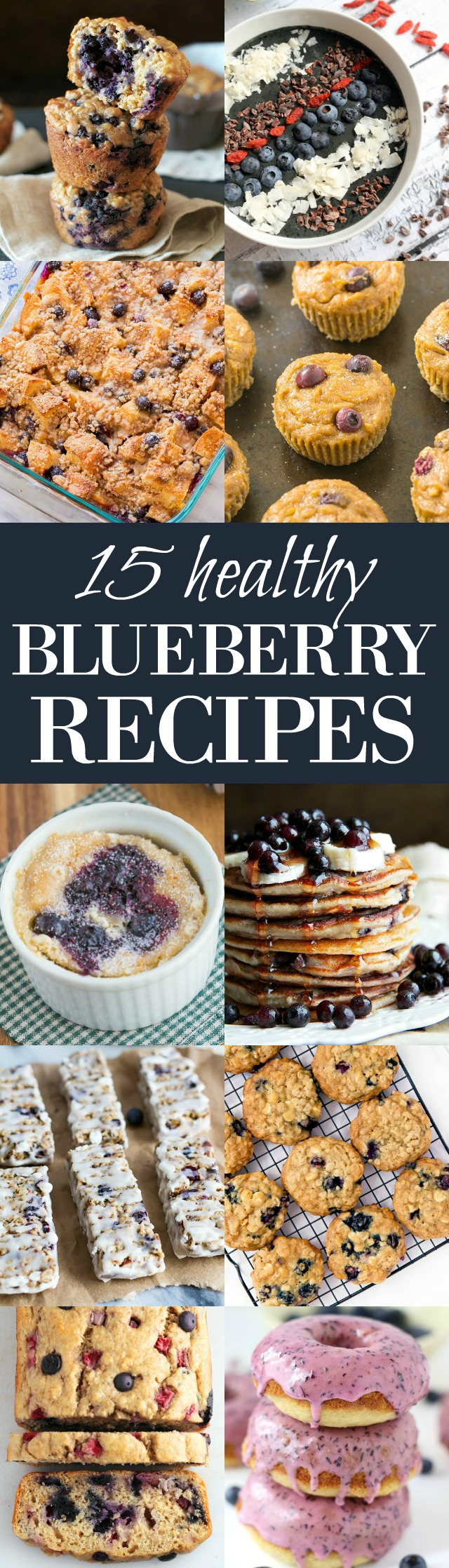 15 Healthy Blueberry Recipes - perfect for breakfasts and snacks! | runningwithspoons.com