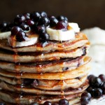 Blueberry Banana Greek Yogurt Pancakes