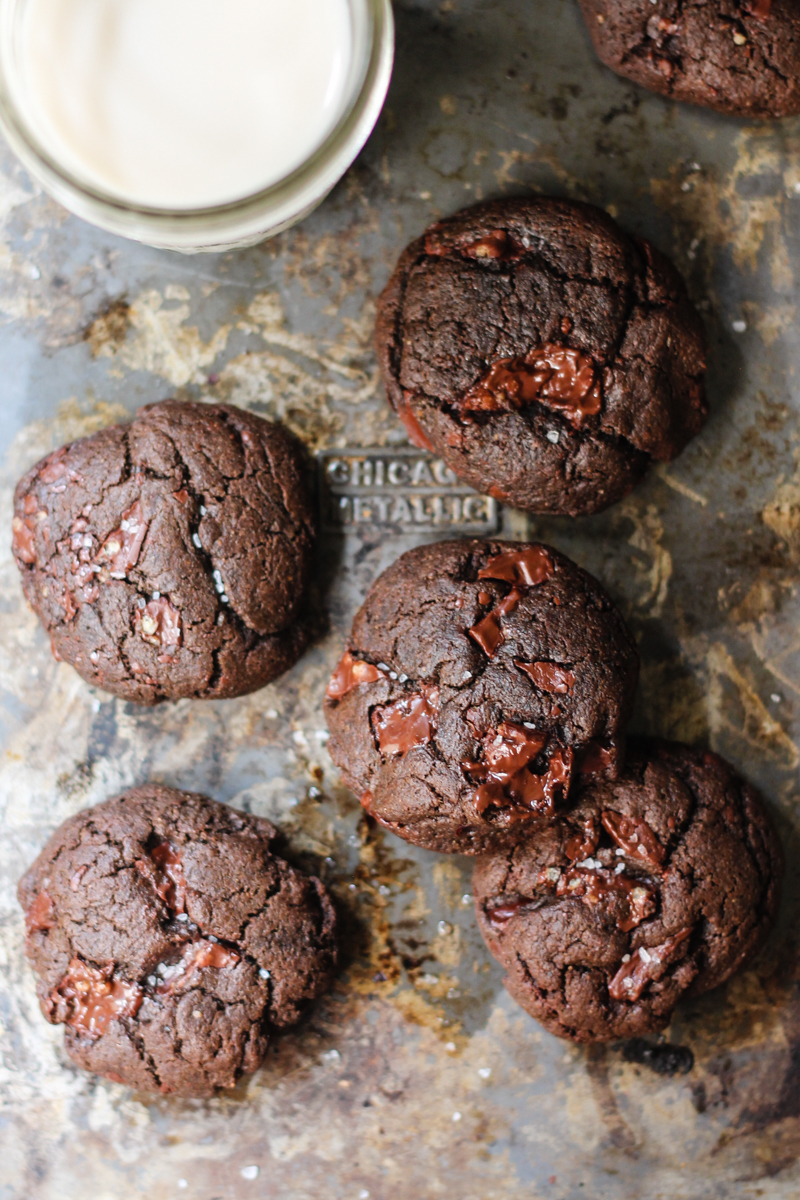 Double Chocolate Hazlenut Cookies