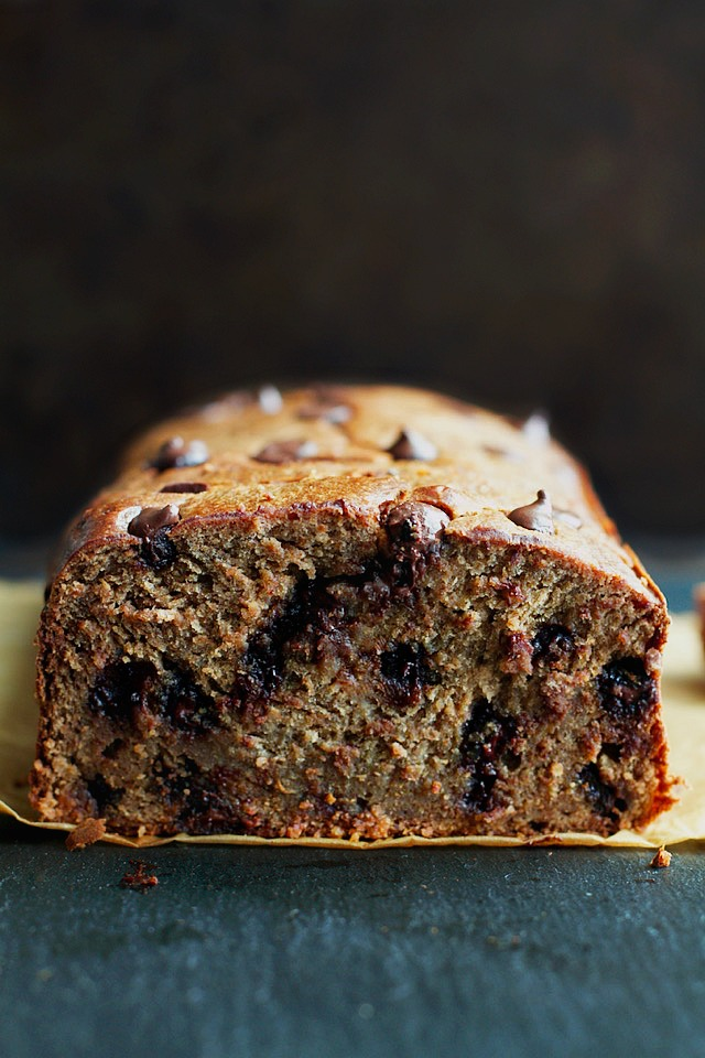 flourless chocolate chip banana bread