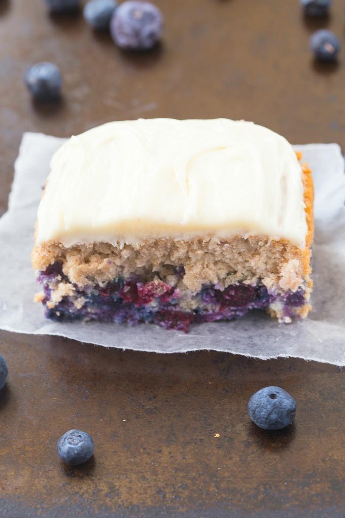 Healthy Flourless Blueberry Breakfast Cake