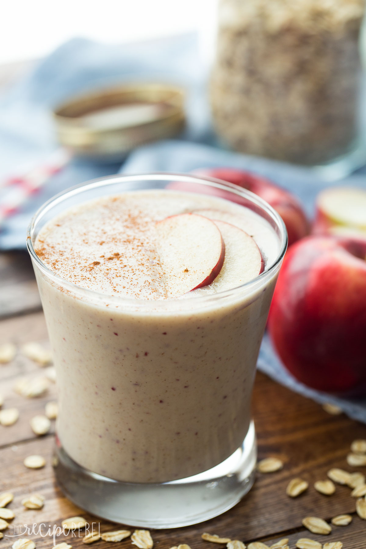 Chocolate Banana Peanut Butter Oatmeal Smoothie