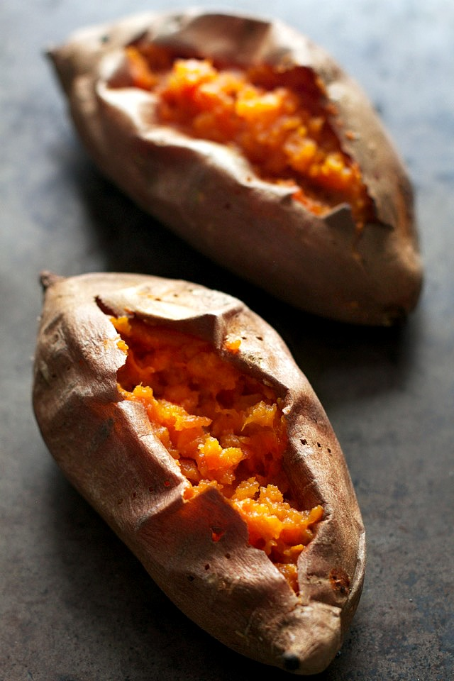Fluffy Baked Sweet Potatoes