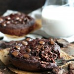 Deep Dish Double Chocolate Breakfast Cookies