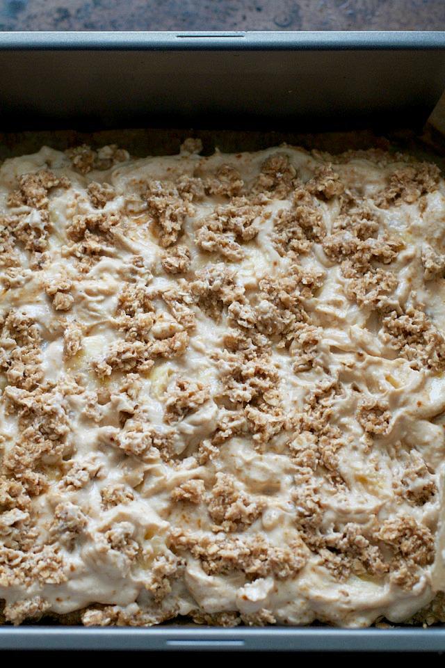 ... banana oat mix on top to make something like an oatmeal crumble bar