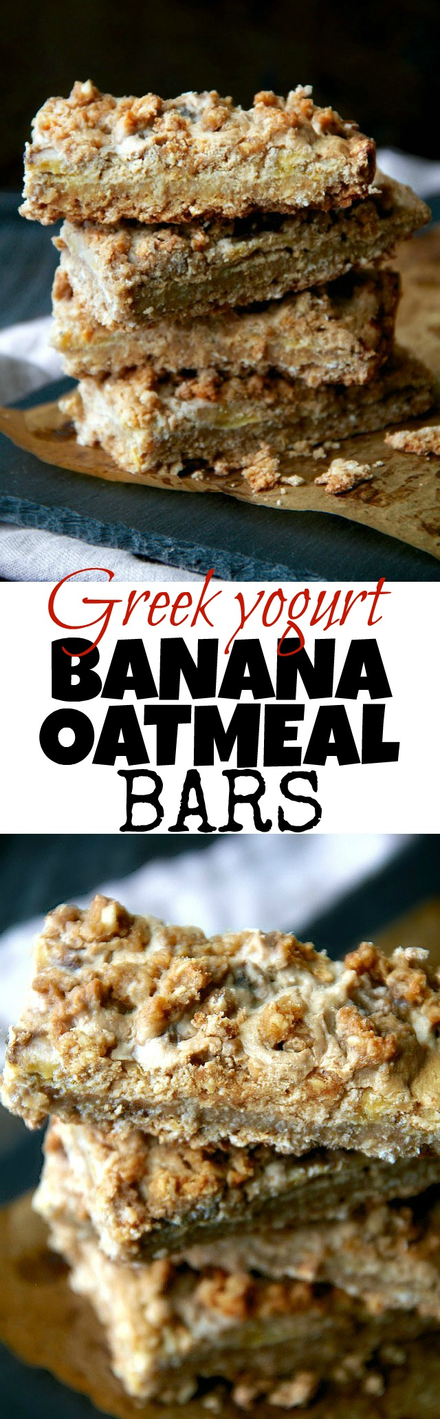 Greek Yogurt Banana Oatmeal Bars Running With Spoons