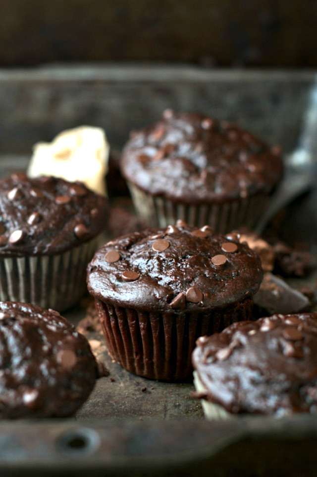 Chocolate muffin recipe with butter