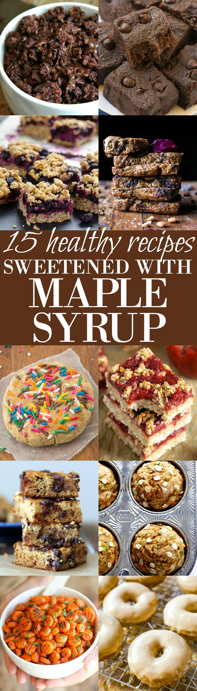Looking to cut back on the refined sugars? These healthy maple syrup sweetened recipes will help you do just that without having to sacrifice your sweet tooth! | runningwithspoons.com