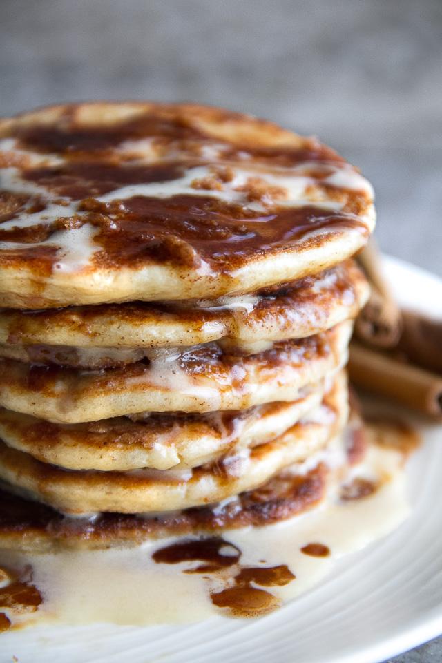 Cinnamon roll greek yogurt pancakes running with spoons cinnamon roll greek yogurt pancakes ccuart Gallery