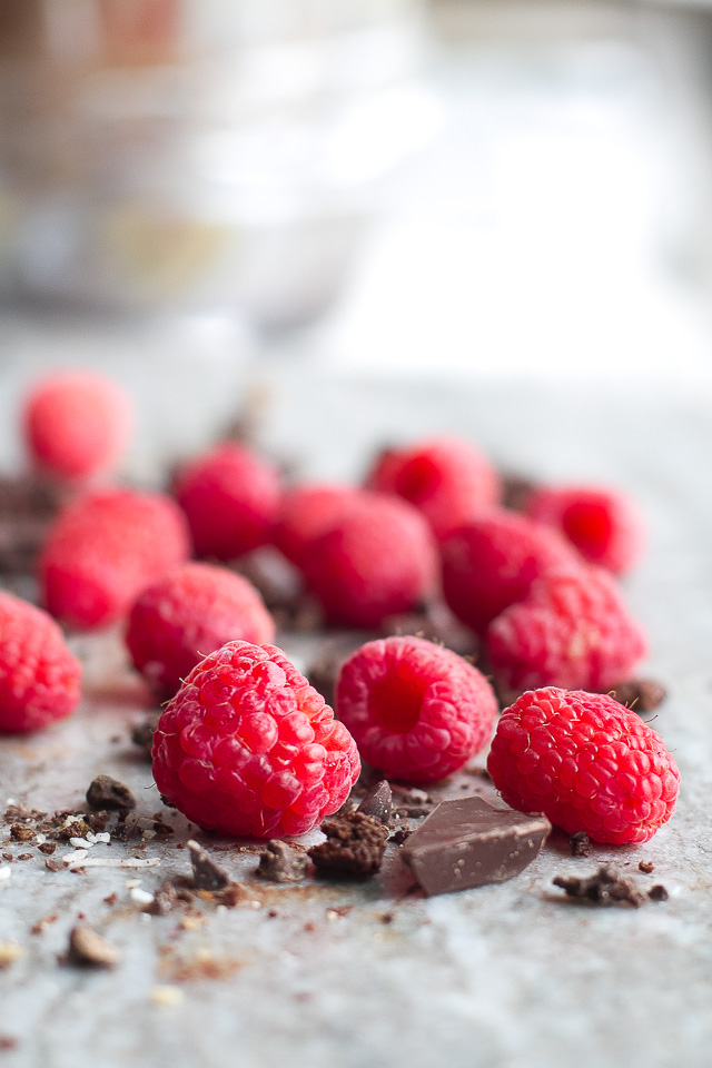 Delicious Dark Chocolate and Raspberries
