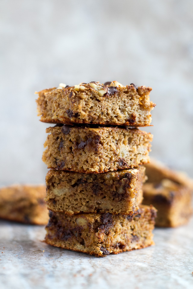 Flourless Banana Blondies