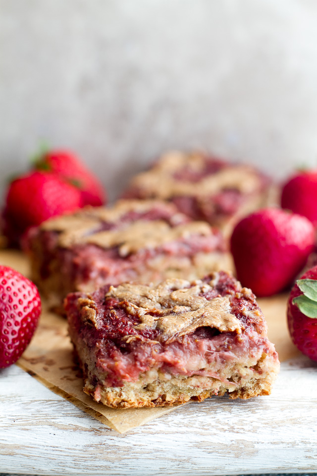 Almond Butter and Jelly Banana Bread Bars