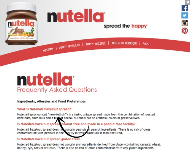 How To Pronounce Nutella