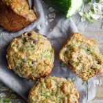 Zucchini Oat Greek Yogurt Muffins