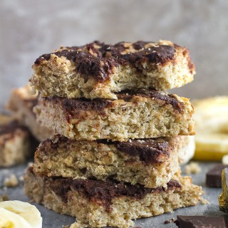 Chocolate Swirl Banana Oat Breakfast Bars