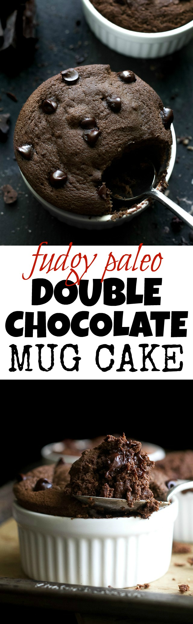 Fudgy Double Chocolate Mug Cake | running with spoons