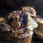 Dark Chocolate Blueberry Banana Oat Muffins