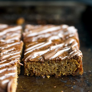 fudgy flourless pumpkin pie bars