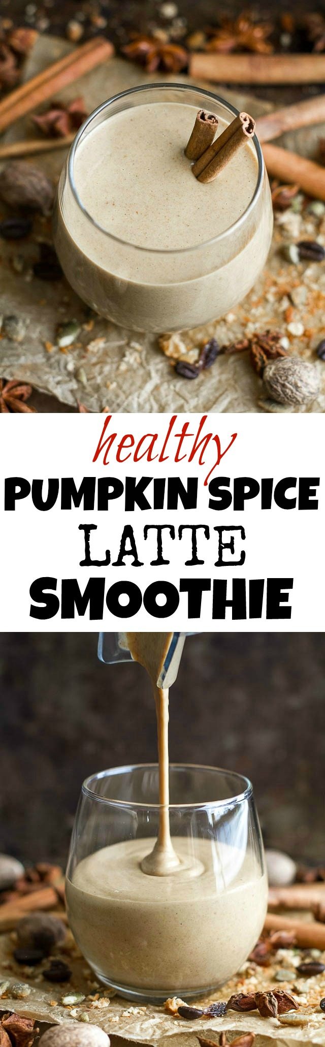 This healthy Pumpkin Spice Latte Breakfast Smoothie can be enjoyed hot ...