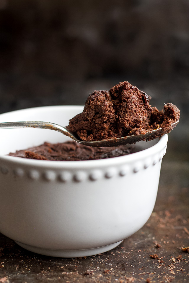 This healthy Two Minute Sweet Potato Brownie recipe is so fudgy, dense, and chocolatey, that you'd never be able to tell it's made with NO flour, NO butter, and NO oil! | runningwithspoons.com {vegan, paleo, gluten free}