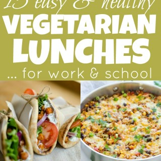 15 Easy Healthy Vegetarian Lunches