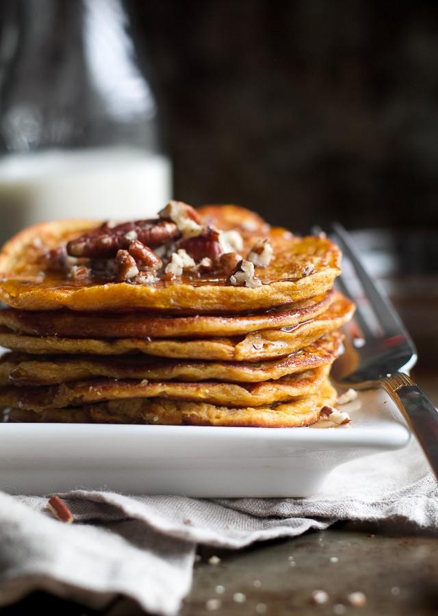 Sweet Potato Greek Yogurt Pancakes