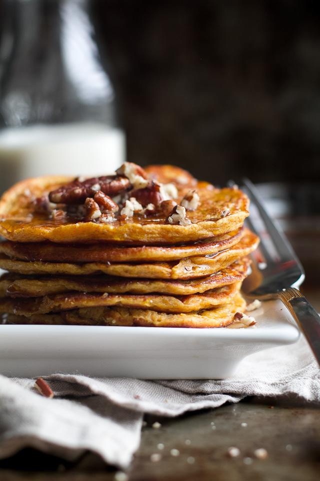 Sweet Potato Greek Yogurt Pancakes that are sure to keep you satisfied ...