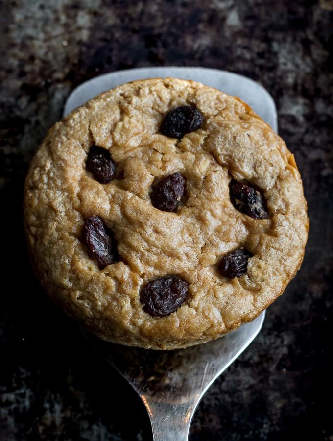Deep Dish Oatmeal Raisin Breakfast Cookie
