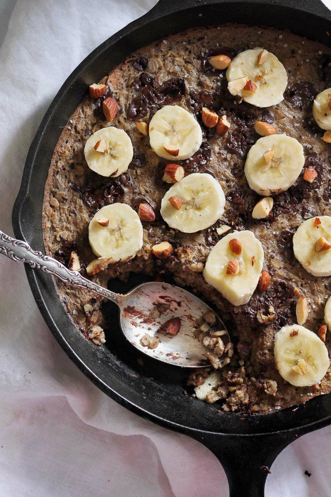 Chocolate Almond Banana Bread Oatmeal