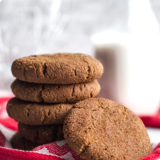 chewy flourless gingerbread cookies