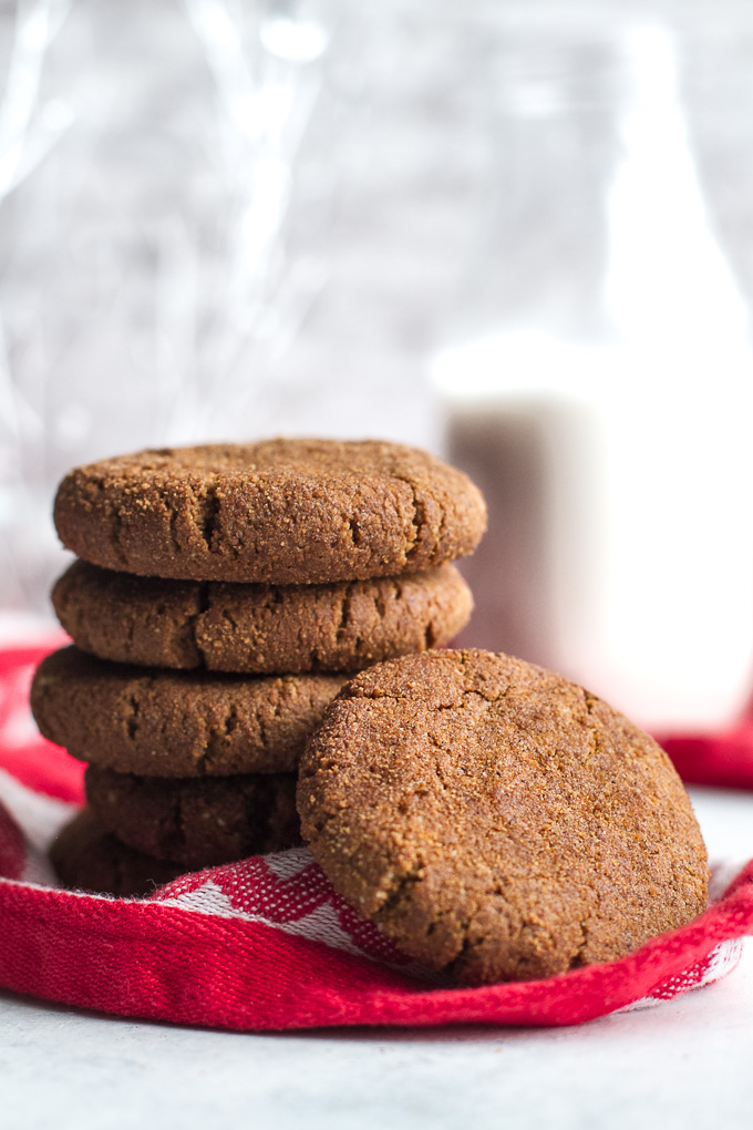Chewy Flourless Gingerbread Cookies Running With Spoons