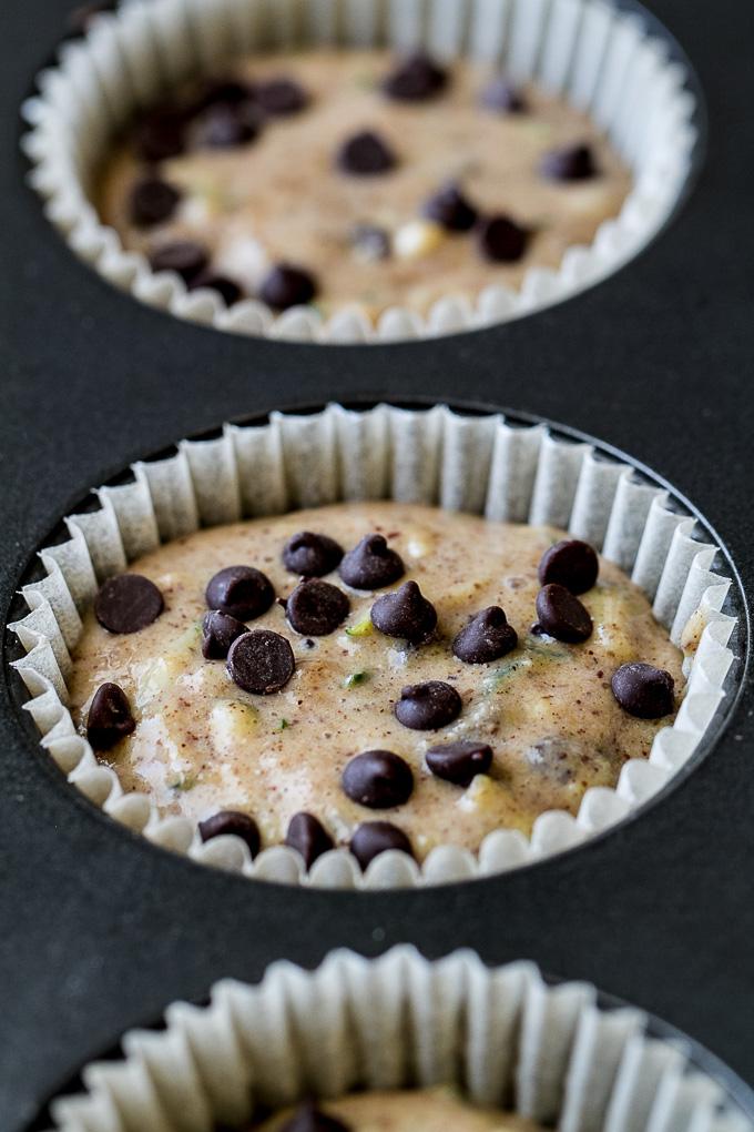 Chocolate Chup Zucchini Muffin Batter