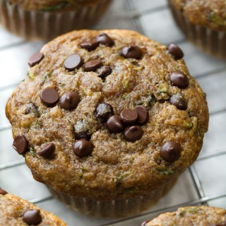 Flourless Chocolate Chip Zucchini Banana Muffins2